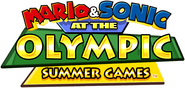 Mario and sonic at the olympic summer games logo by lazbit-dclzbov