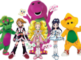 Barney meets Pretty Cure Max Heart