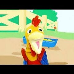 Rooster Puppet as Little Map