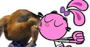 E.b. and yin kissing