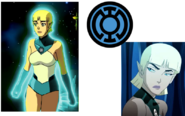 Arisia Rrab of the Blue Lantern Corps