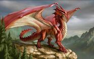 Red-dragon-on-a-cliff