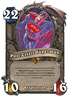Superman hearthstone