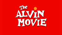 The alvin movie title card