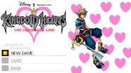 Kingdom Hearts- Dreams of Love game menu