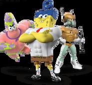Spongebob patrick squidward cgi heroes