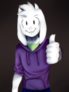 Beyondtale asriel collab with hermann by clemi1806-dbedsra