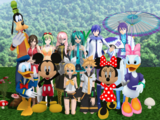 Mickey Mouse and Friends meet the 8 Vocaloids of Japan