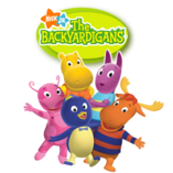 Pablo the penguin , Tyrone the moose , Tasha the hippo , Uniqua and Austin the kangaroon from ´´ The Backyardigans ´´