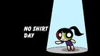 No Shirt Day title card