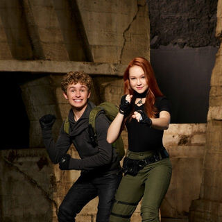 The 2019 versions of Kim Possible and Ron Stoppable as they will skate (though not shown in this picture)