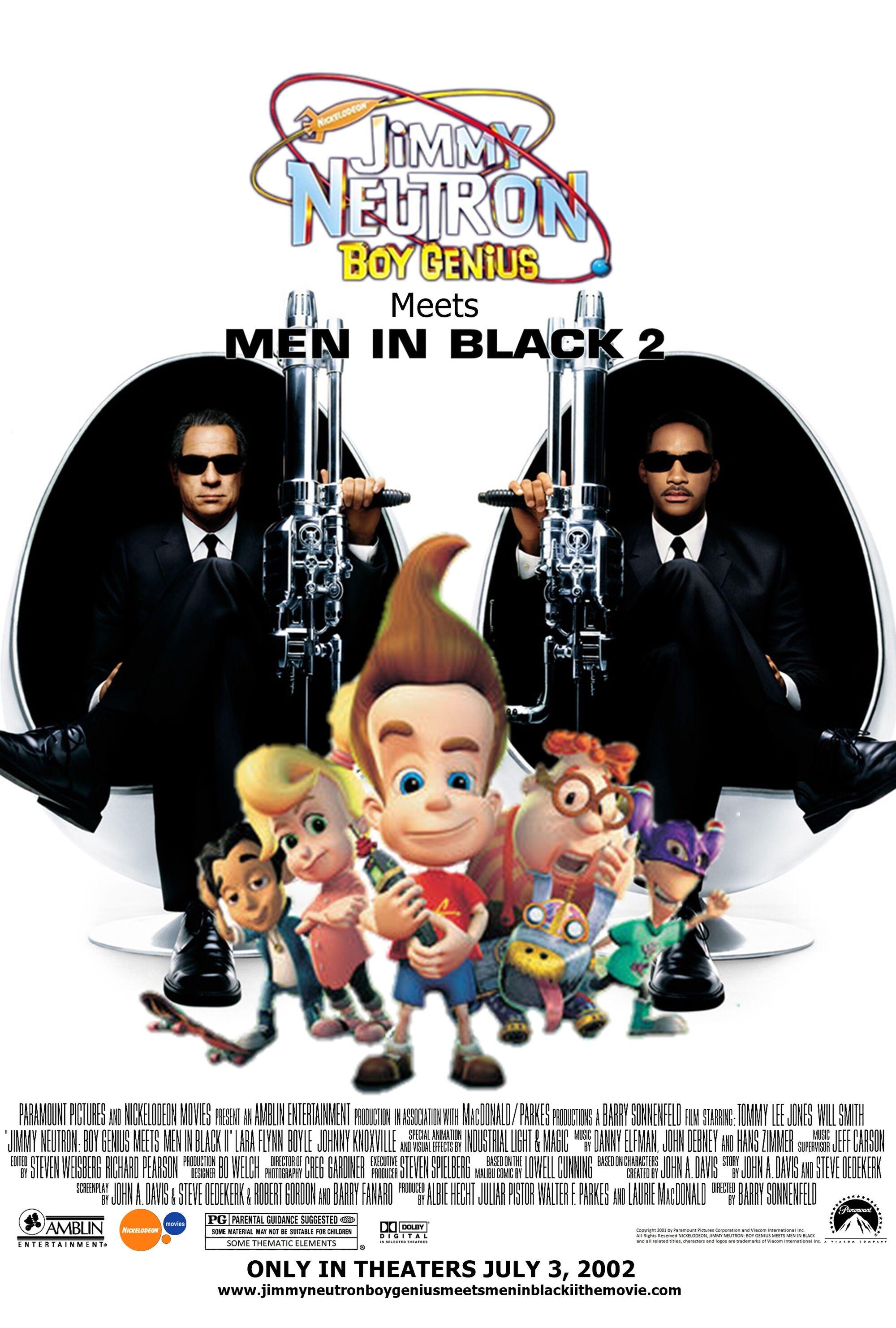 jimmy neutron  boy genius meets men in black ii