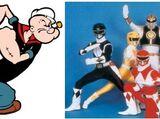 Popeye/Power Rangers crossover