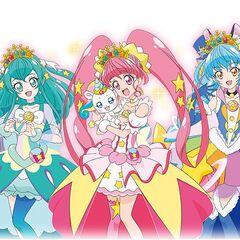 The Glitter Force Girls in Super Twinkle Mode