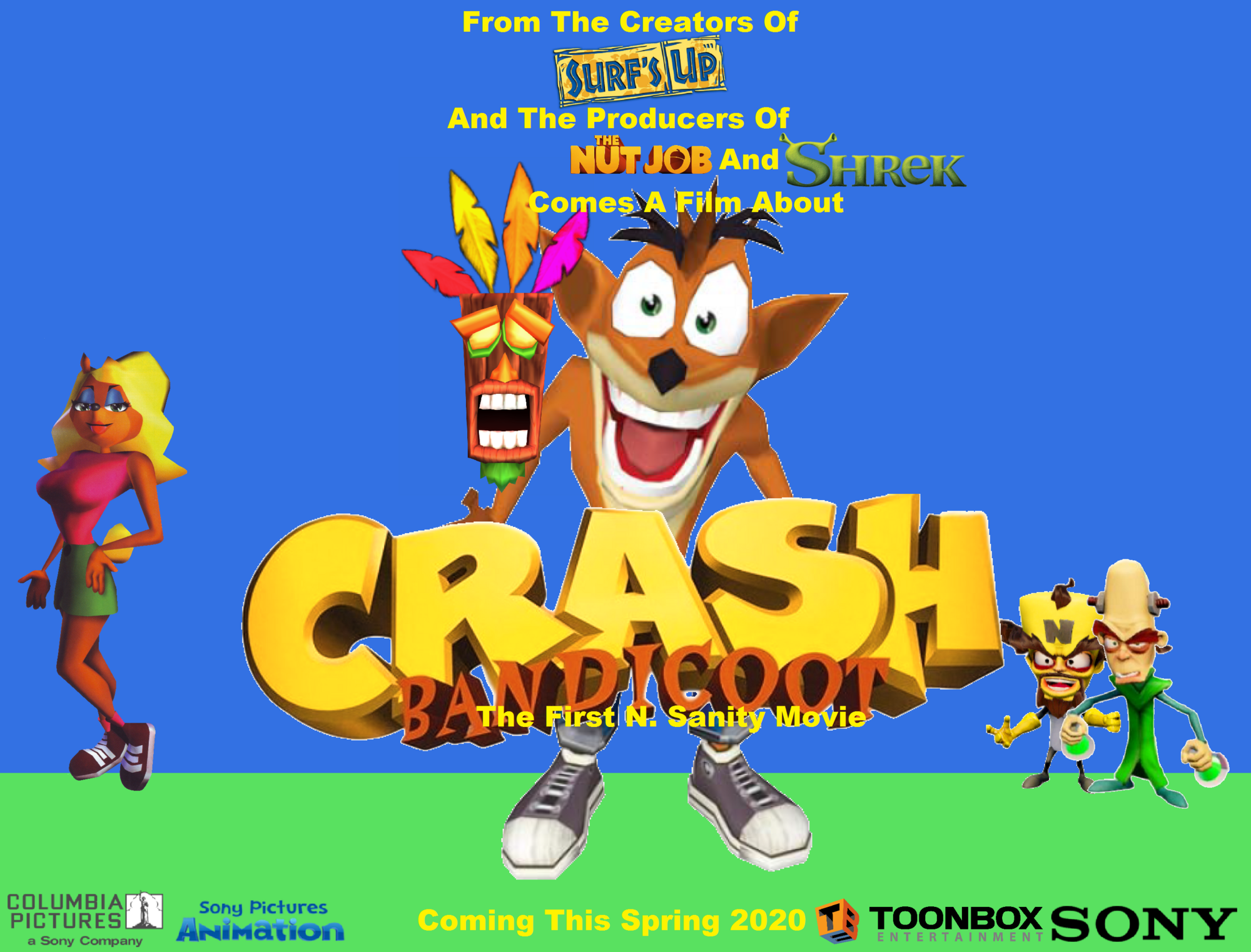 2020 Movie Posters: Crash Bandicoot The First N. Sanity Movie (2020 Film