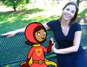 Behind the secnes- WordGirl with her creator