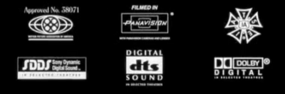 MPPA, Panavision, IATSE, SDDS, DTS, and Dolby