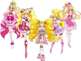 Pretty Cure Pink Blondes