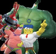 Spongebob patrick plankton krabs cgi heroes