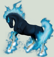 Blue Flare Horse