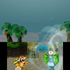 <b>Bowser Sucking Up The Sea Pipe Statue's Blooper</b>