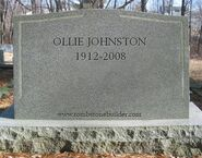 Ollie Johnston tombstone