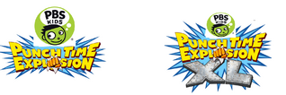 PBS Kids Punch Time Explosion and Punch Time Explosion XL Logos