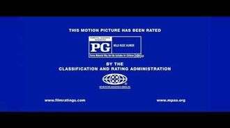 MPAA PG Blue Screen Bumpers (2013) (2.35-Rated PG Blue Screen