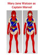 Mary Jane Watson as Captain Marvel