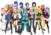 The Vocaloids, UTAUloids and Pitchloids together