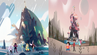 Star (from Star vs. The Forces of Evil) and Steven (from Steven Universe) switiching universes