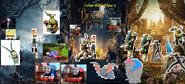 The Three Beauty and the Beast Posters (Julian Bernardino's Style)