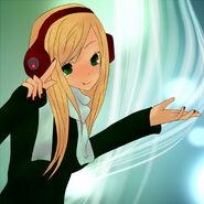 Greenbeatsmusicgirl by applepop410-d65n48e