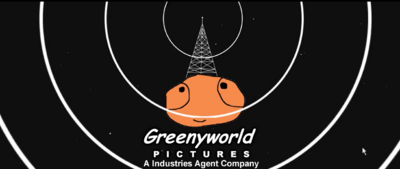 GreenyWorld Pictures Logo On Screen