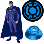 Superman as the Grandmaster of the Blue Lantern Corps