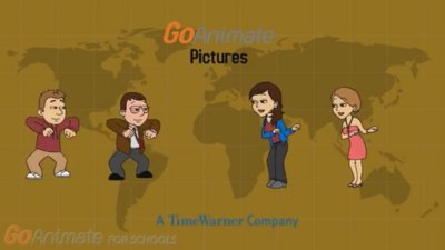 GoAnimate Pictures Logo With The World