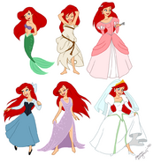 Ariel in 6 forms