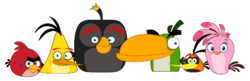 The angry birds series main characters