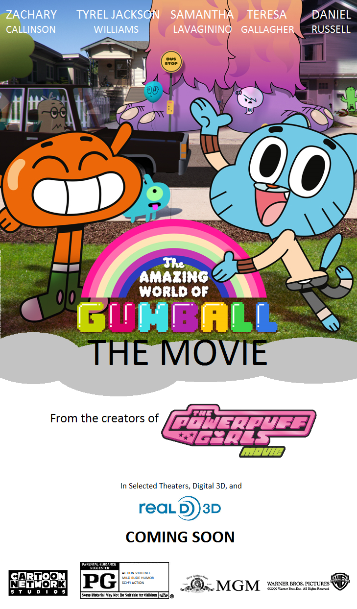 The Amazing World Of Gumball MGM WB Movie Poster 2