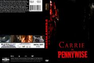 Carrie vs pennywise dvd cover by steveirwinfan96-dau530e