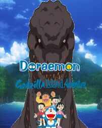 Doraemon godzilla island adventure poster by steveirwinfan96-dafrvne