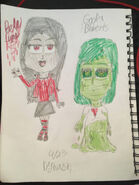 Bella lugosi and goolia roberts colored by allthatglitterz125 dco7clg-fullview