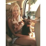 Olivia with Puppies