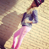 Olivia Wearing Pink Jeans