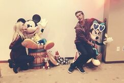 Olivia with Logan and the Mouses