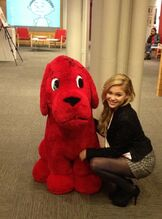 Olivia with Clifford