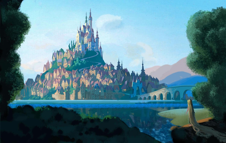 Rapunzel Castle Concept Art Tangled Wallpaper