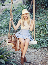 Olivia on a Swing