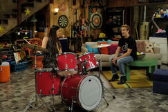 She's mastered the drums!