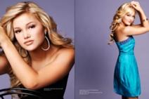 Olivia holt photoshoot girl vs. monster blue and black dress